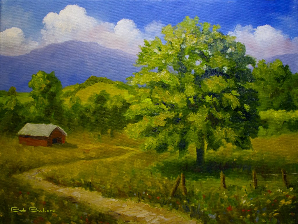 Landscape Painting With Oil Or Adrylic